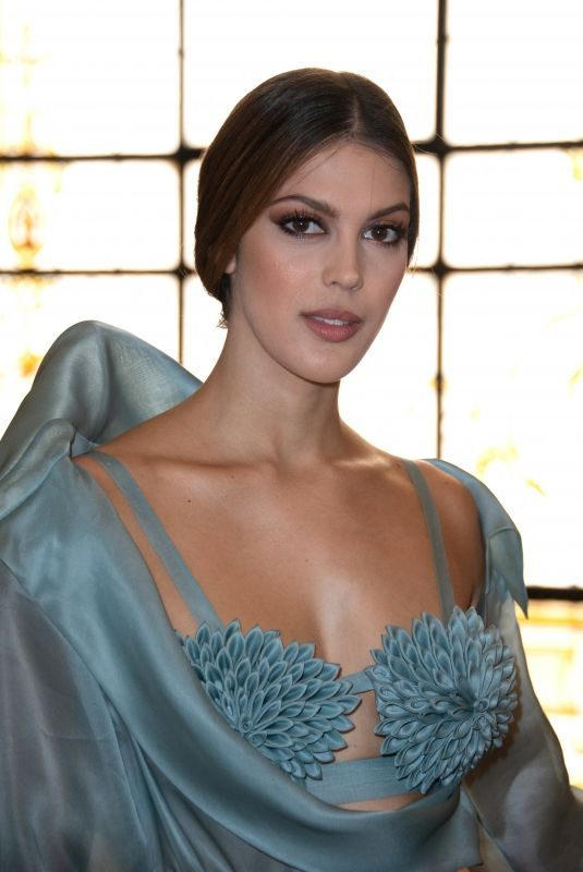IRIS MITTENAERE at Jean Paul Gaultier Haute Couture Fall/Winter 2019/2020 Show in Paris 07/03/2019