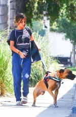 ISABELA MONER Out with Her Dog in West Hollywood 07/17/2019