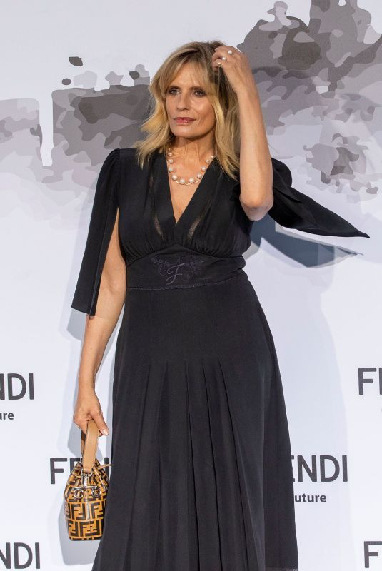 ISABELLA FERRARI at Fendi Fashion Show in Rome 07/04/2019