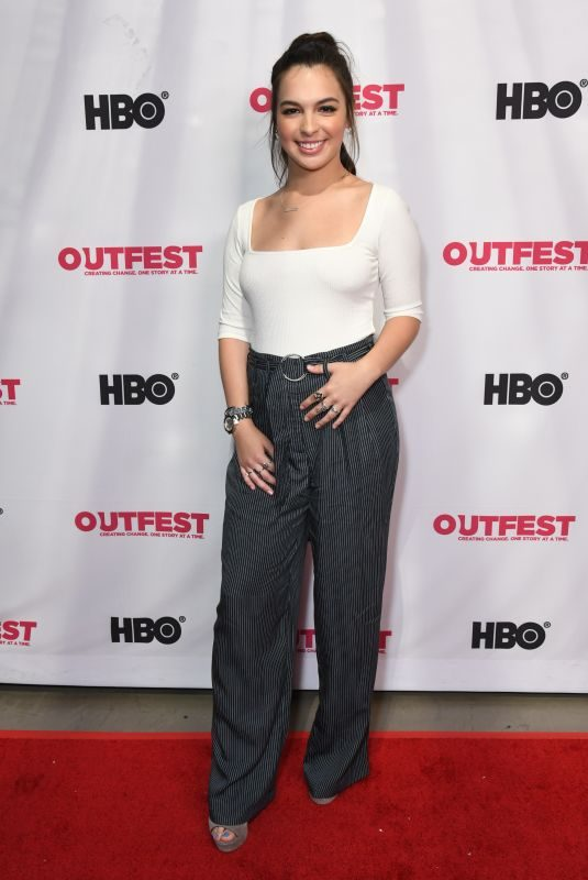ISABELLA GOMEZ at Queering the Script Screening at Outfest Lgbtq Film Festival in Los Angeles 07/20/2019