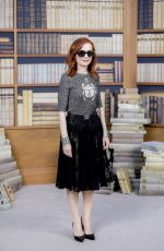 ISABELLE HUPPERT at Chanel Haute Couture Fall/Winter 2019/2020 Collection Show in Paris 07/02/2019