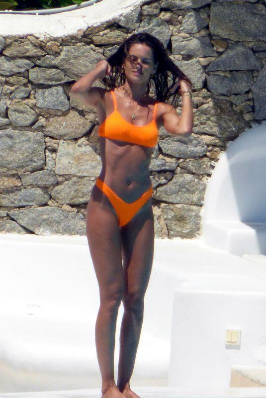 IZABEL GOULART in Bikini at a Pool on Mykonos Island 06/29/2019