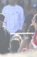 JAMIE FOXX and NINA DOBREV at Independence Day Party at Leonardo Dicaprio