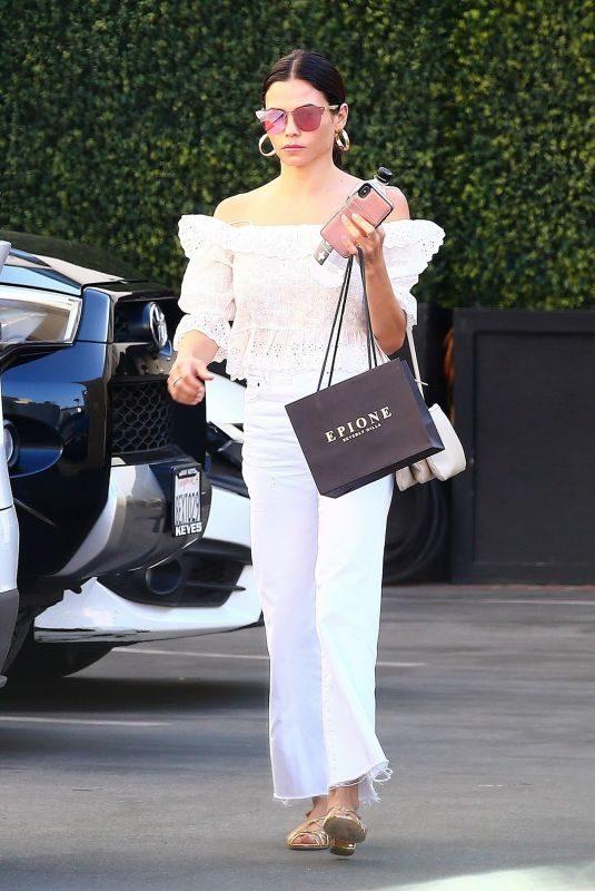 JENNA DEWAN Leaves a Skin Care Clinic in Beverly Hills 07/15/2019