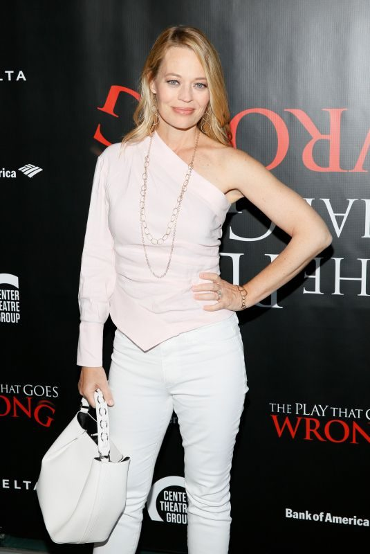 JERI RYAN at The Play That Goes Wrong Opening in Los Angeles 07/10/2019
