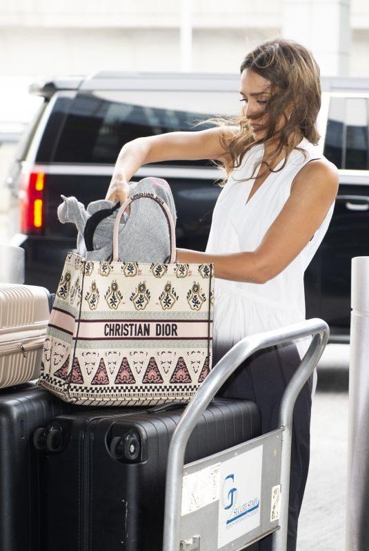 JESSICA ALBA at JFK Airport in New York 07/17/2019