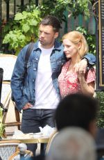 JESSICA CHASTAIN and SEBASTIAN STAN on the Set of 355 in Paris 07/10/2019
