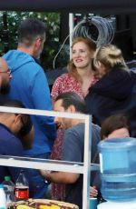 JESSICA CHASTAIN on the Set of 355 in Paris 07/10/2019