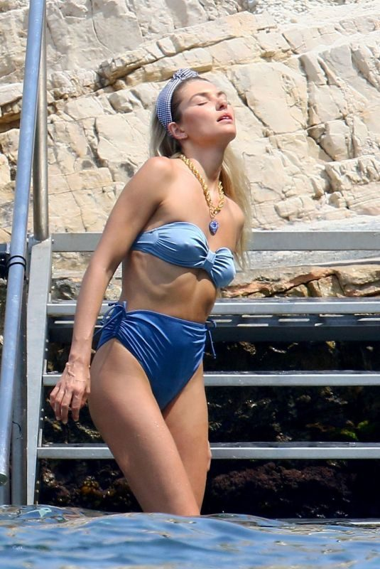 JESSICA HART in Swimwear at a Photoshoot in Cannes 07/04/2019