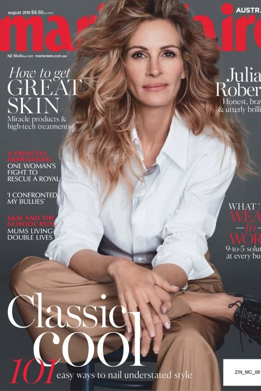 JULIA ROBERTS in Marie Claire Magazine, Australia August 2019