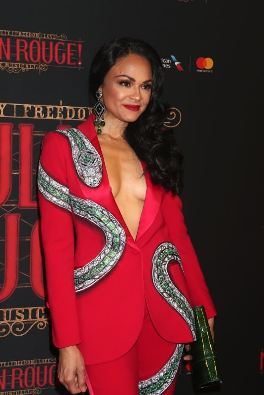 KAREN OLIVO at Opening Night Arrivals for Moulin Rouge in New York 07/25/2019
