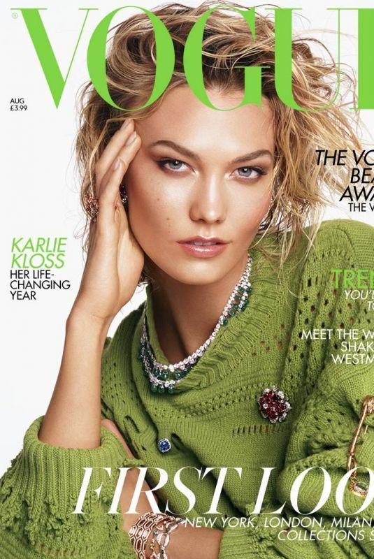 KARLIE KLOSS in Vogue Magazine, UK August 2019