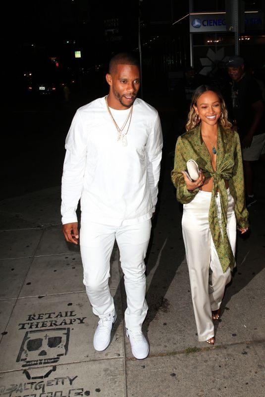 KARRUECHE TRAN and Victor Cruz at Nice Guy in West Hollywood 07/10/2019