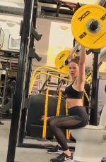 KATE BECKINSALE Workout at a Gym - Instagram Pictures and Video 06/21/2019
