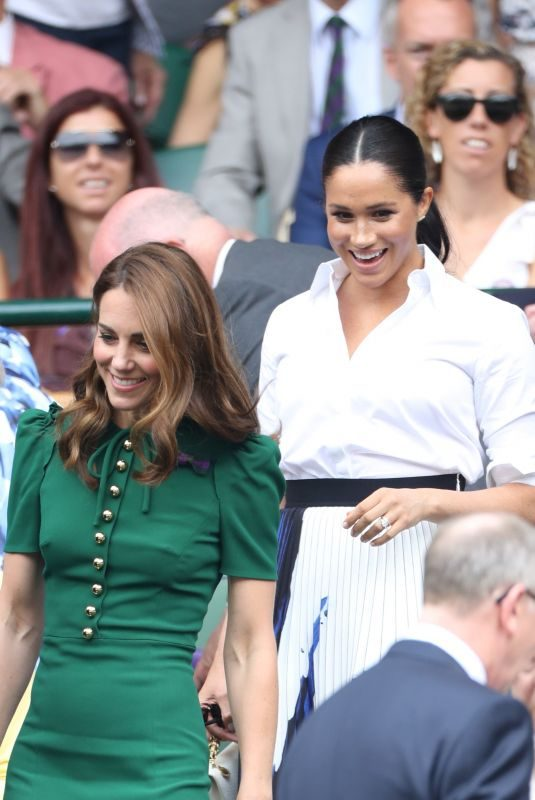 KATE MIDDLETON and MEGHAN MARKLE at Wimbledon 2019 Tennis Championships Women's Final in London 07/13/2019