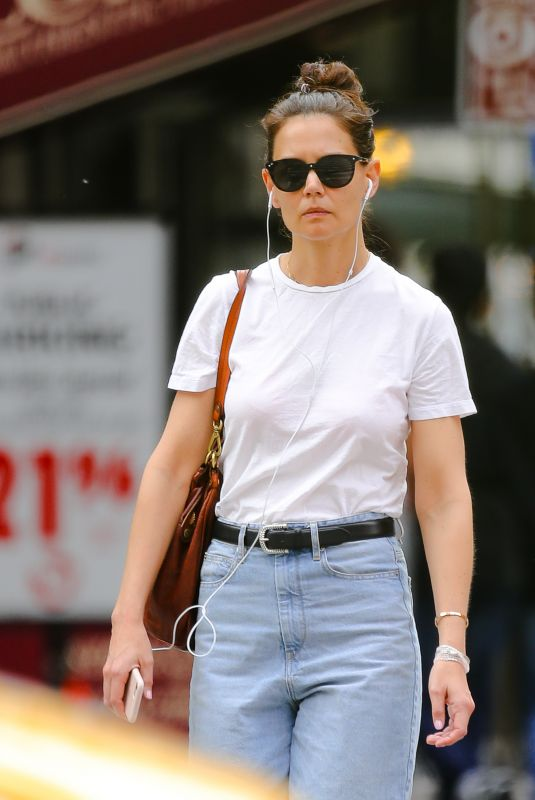 KATIE HOLMES in Denim Out in New York 07/13/2019