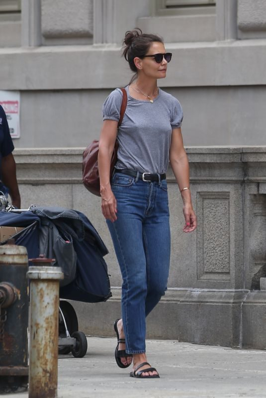 KATIE HOLMES Out in New York 07/17/2019