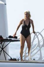 KATY PERRY in Swimsuit at a Boat in Mallorca 07/24/2019