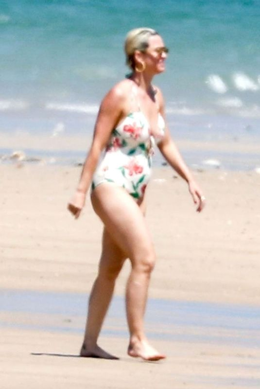 KATY PERRY in Swimsuit on the Beach in Ile de Re 07/08/2019