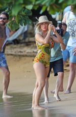 KATY PERRY in Swimsuit on the Set of Her New Music Video 07/02/2019