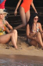 KATY PERRY in Swimsuit on the Set of Her New Music Video at a Beach in Hawaii 07/01/2019