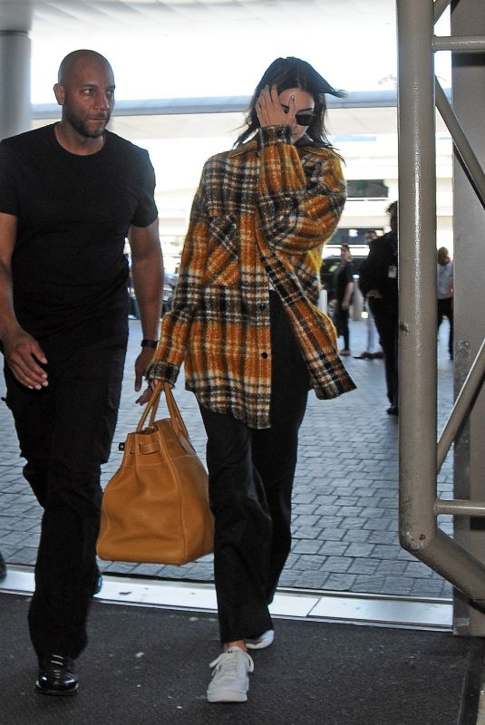 KENDALL JENNER at LAX Airport in Los Angeles 07/05/2019