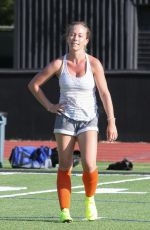 KENDRA WILKINSON Playing Soccer in Los Angeles 07/08/2019