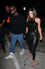 KIMA KARDASHIAN and Kanye West Arrives at Craig