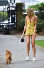 KIMBERLEY GARNER Out with Her Dog in London 07/09/2019