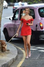 KIMBERLEY GARNER Out with Her Dog in London 07/17/2019