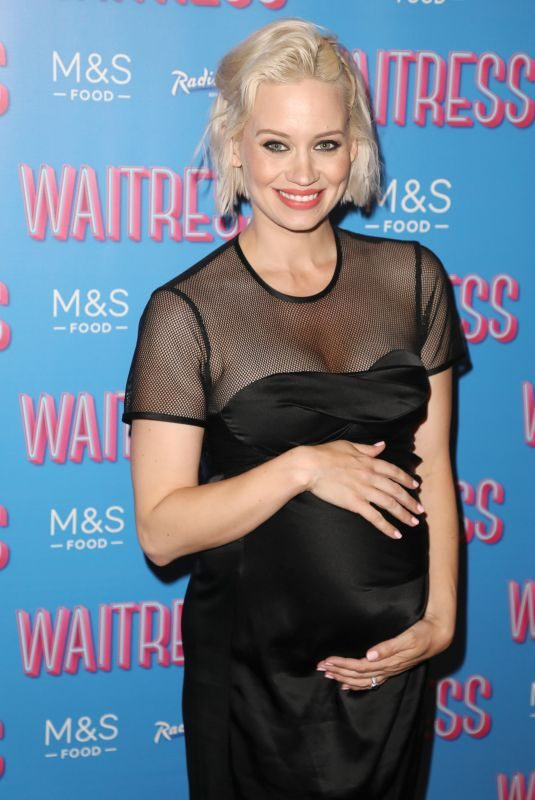 Pregnant KIMBERLY WYATT at Waitress the Musical Cast Change in London 0/702/2019