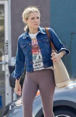 KRISTEN BELL Arrives at a Gym in Los Angeles 06/26/2019