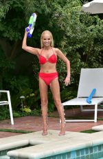 KRISTEN CHENOWETH in Bikini at a Pool in Beverly Hills 07/10/2019