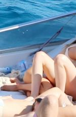 KRISTEN STEWART and STELLA MAXWELL in Bikinis at a Boat in Italy 07/17/2019
