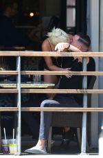 LADY GAGA and Dan Horton at a Restaurant in Los Angeles 07/28/2019