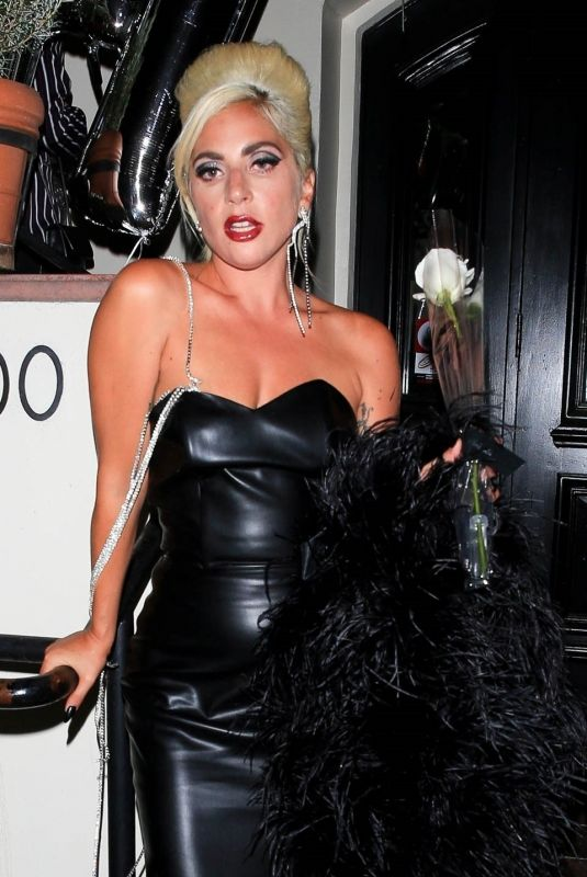 LADY GAGA at a Party in West Hollywood 07/17/2019