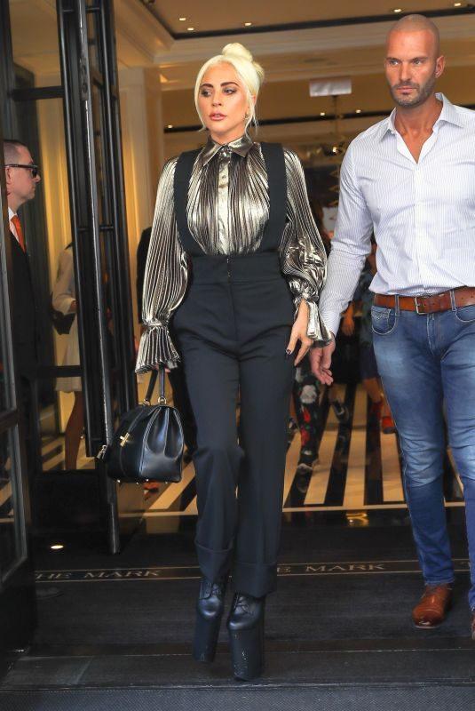 LADY GAGA Leaves Mark Hotel in New York 07/02/2019