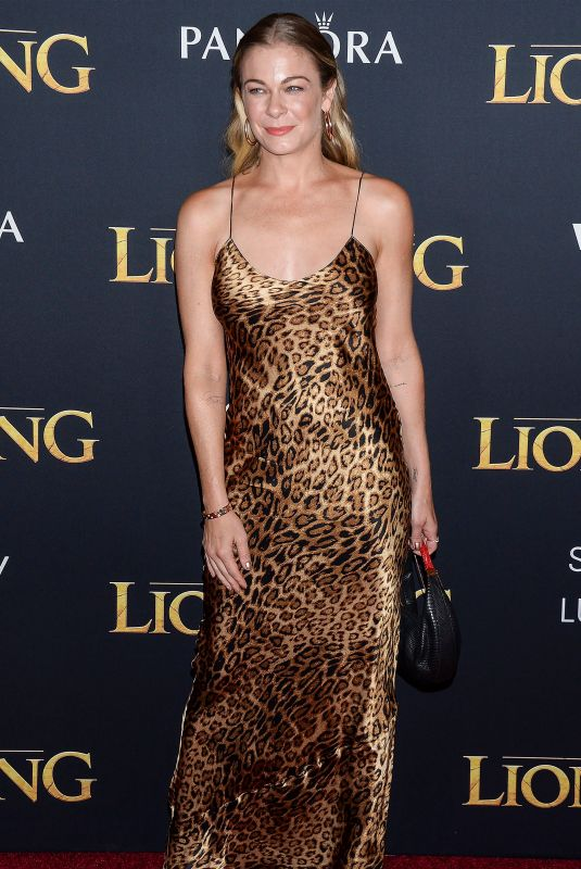 LEANN RIMES at The Lion King Premiere in Hollywood 07/09/2019