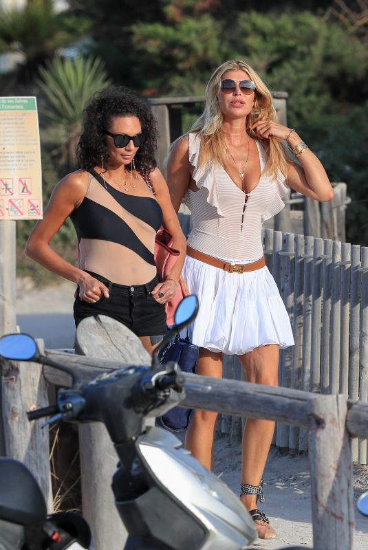 LILY BECKER and ESTELLE CRUIJFF Out in Ibiza 07/18/2019