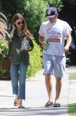 LILY COLLINS Out for Lunch at Alfred