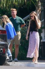 LILY COLLINS Out for Lunch in West Hollywood 07/10/2019