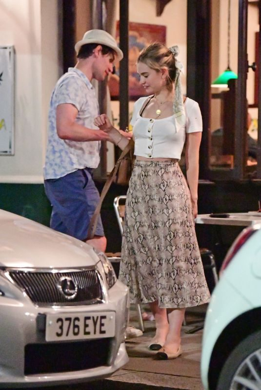 LILY JAMES and Matt Smith Out for Dinner in Primrose Hill 06/30/2019