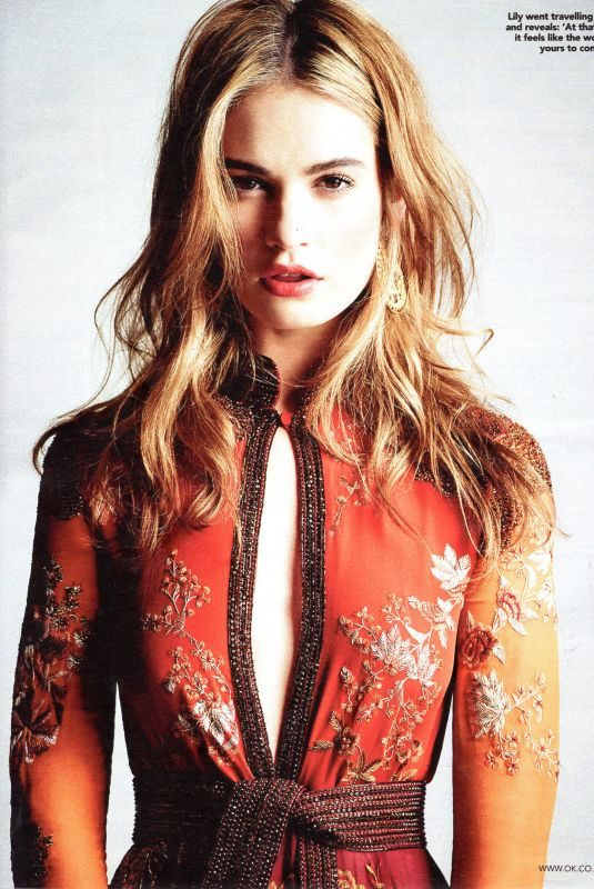 LILY JAMES in OK! Magazine, July 2019