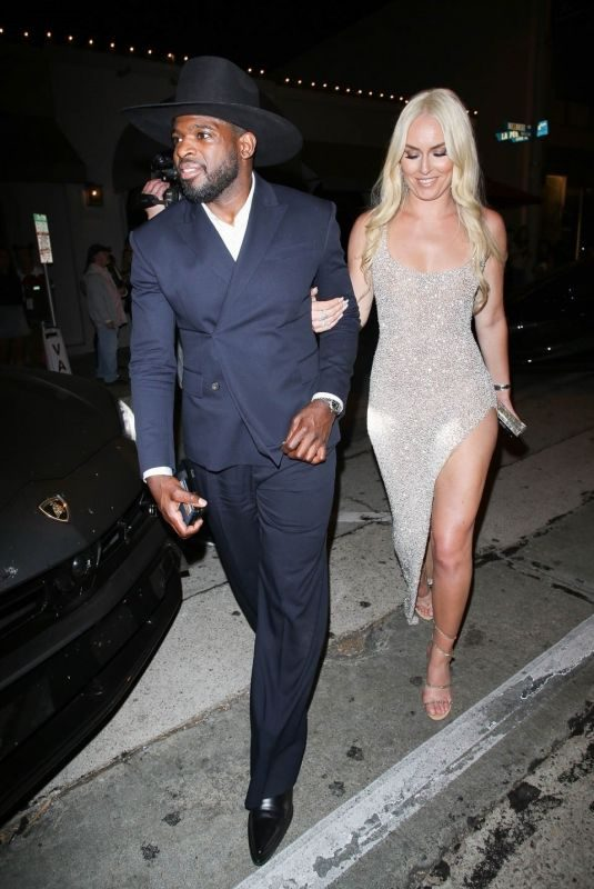 LINDSEY VONN and P. K. Subban at Craig's in West Hollywood 07/10/2019