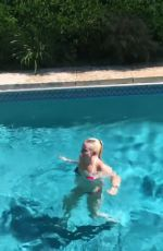 LINDSEY VONN in Bikini Jump into a Pool - Instagram Pictures and Video 07/04/2019 -