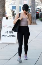 LUCY HALE Heading to a Gym in Studio City 07/18/2019