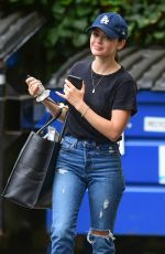 LUCY HALE in Ripped jeans Out in Studio City 07/25/2019