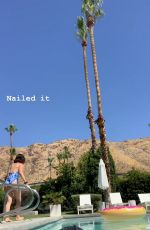 LUCY HALE in Swimsuit at a Pool - Instagram Pictures and Video 04/07/2019