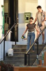 LUCY HALE Picking Up Her Dog Elvis in Los Angeles 07/12/2019