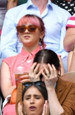 MAISIE WILLIAMS and DIANA SILVERS at Wimbledon 2019 Tennis Championships in London 07/08/2019